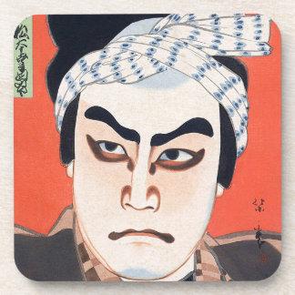 Arte japonés oriental fresco de la pintura del act posavasos de bebida
