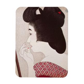 Arte japonés oriental fresco de la señora del geis rectangle magnet