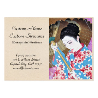 Arte japonés oriental fresco del paraguas de la tarjetas de visita grandes
