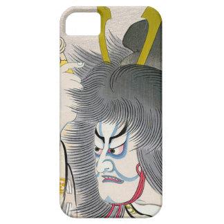 arte japonés oriental fresco del samurai del kabuk iPhone 5 cárcasas
