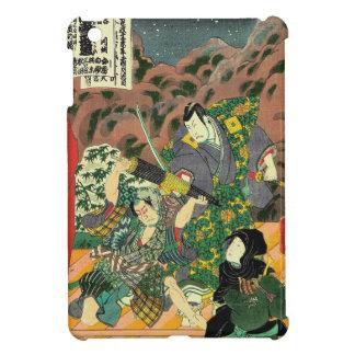 Arte japonés - pintura de luchar de dos samurais