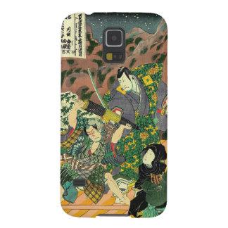 Arte japonés - pintura de luchar de dos samurais funda para galaxy s5