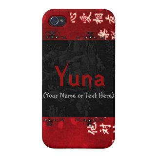 Arte japonés rojo elegante iPhone 4 cárcasas