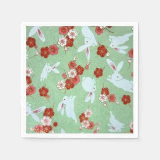 Arte japonés - Sakuras y servilletas de papel de