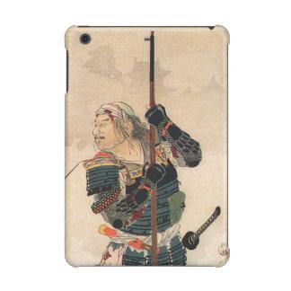 Arte japonés - samurai con la armadura llena de la