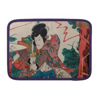 Arte japonés - samurai con Swor en la demostración Fundas MacBook