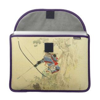 Arte japonés - samurai con un arco y las flechas fundas para macbooks