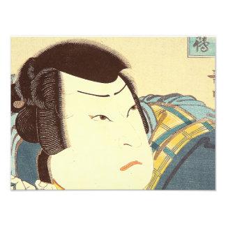 Arte japonés - samurai en el engranaje lleno del impresiones fotograficas