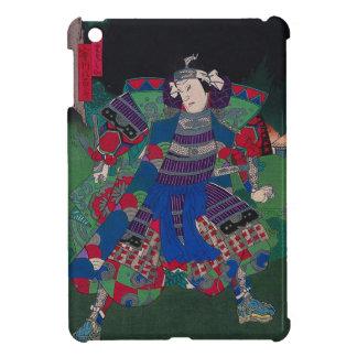 Arte japonés - samurai general en armadura llena