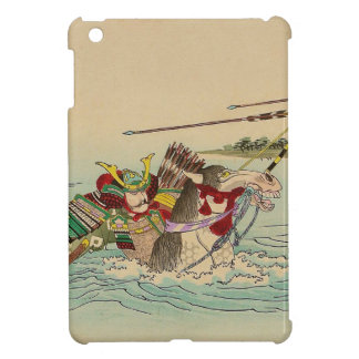 Arte japonés - samurai que ataca de un río