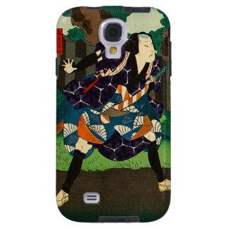Arte japonés - samurai que lleva el kimono funda galaxy s4