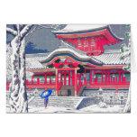 Arte japonés tarjeta