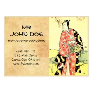 Arte japonés tradicional del samurai del ukiyo-e c tarjetas de visita grandes