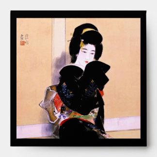 Arte japonés tradicional oriental fresco de la señ