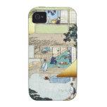 Arte japonés Ukiyo-e de Woodblock del invierno del iPhone 4/4S Funda