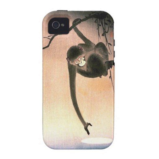 Arte japonés Ukiyo-E de Woodblock del mono que Case-Mate iPhone 4 Fundas