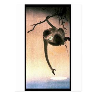 Arte japonés Ukiyo-E de Woodblock del mono que Postal