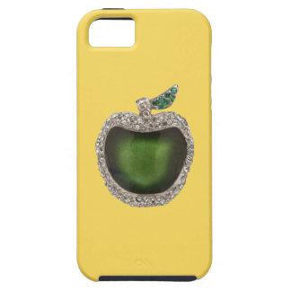 Arte Jeweled de Apple del verde de jade Funda Para iPhone 5 Tough
