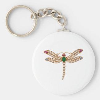Arte Jeweled de la libélula Llaveros Personalizados
