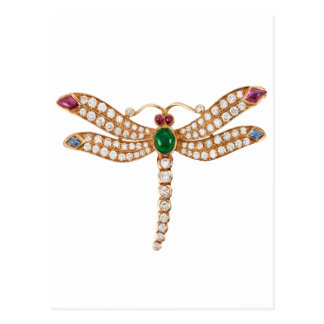 Arte Jeweled de la libélula Postal
