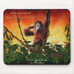 Arte joven Mousepad de la salida del sol del orang Alfombrilla De Raton