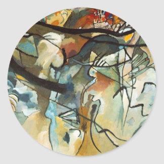 arte kandinsky del abract pegatina redonda