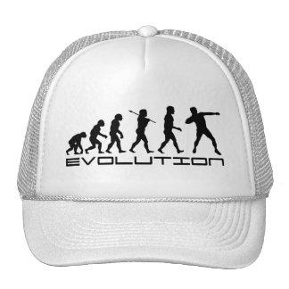 Arte lanzamiento de peso de la evolución del depor gorra