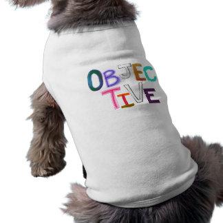 Arte legal científico justo racional objetivo de l ropa para mascota