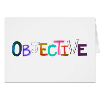 Arte legal científico objetivo de la palabra tarjeta de felicitación