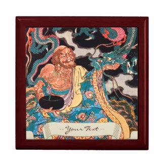 Arte legendario japonés clásico del dragón del gue caja de joyas