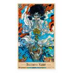 Arte legendario japonés clásico del guerrero del s tarjetas personales