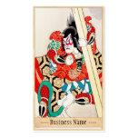 Arte legendario japonés clásico del guerrero del s plantillas de tarjetas personales