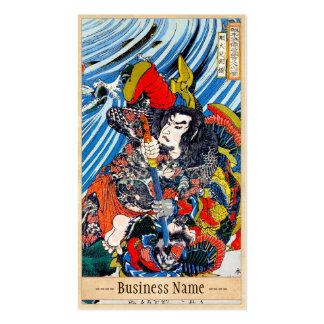 Arte legendario japonés clásico del guerrero del s tarjeta de visita
