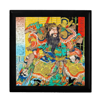 Arte legendario japonés fresco de Naginata del gue Cajas De Joyas