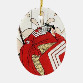 Arte legendario japonés fresco del guerrero del ornamentos de reyes