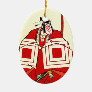 Arte legendario japonés fresco del guerrero del adorno de navidad