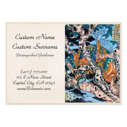 Arte legendario japonés fresco del guerrero del sa plantillas de tarjeta de negocio