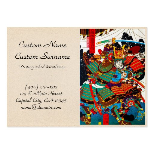 Arte legendario japonés fresco del guerrero del sa tarjetas de negocios