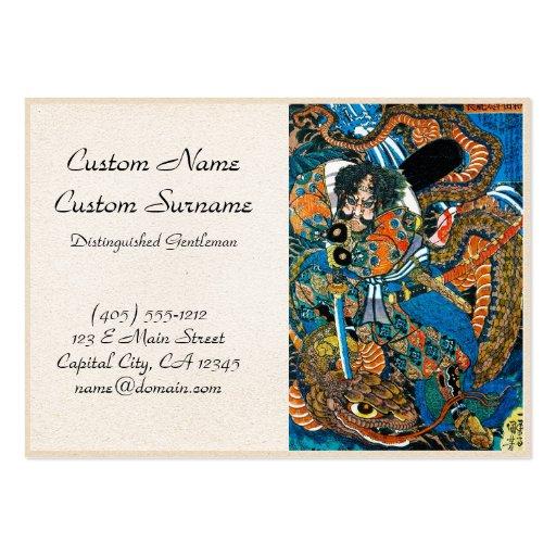 Arte legendario japonés fresco del guerrero del sa tarjeta de visita