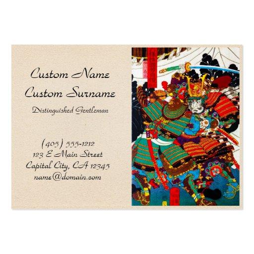 Arte legendario japonés fresco del guerrero del tarjetas de visita grandes