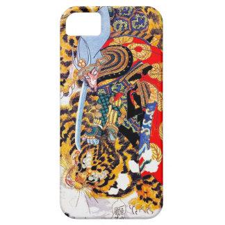 Arte legendario japonés fresco del tigre de la funda para iPhone SE/5/5s