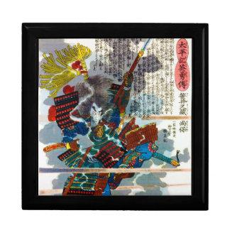Arte legendario japonés orental fresco de Bushi de Cajas De Recuerdo