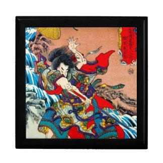 Arte legendario japonés oriental fresco de Bushi d Caja De Regalo