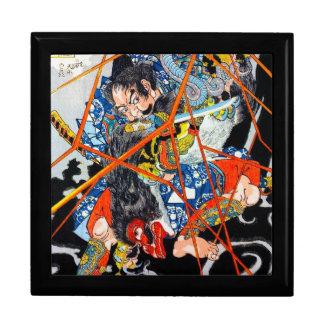 Arte legendario japonés oriental fresco del guerre caja de recuerdo