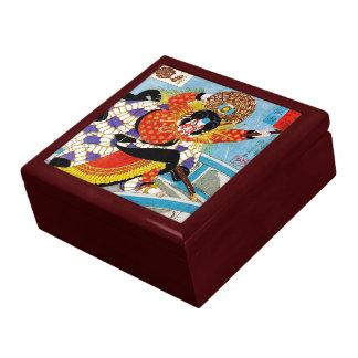 Arte legendario japonés oriental fresco del guerre cajas de recuerdo