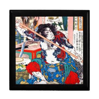 Arte legendario japonés oriental fresco del guerre cajas de regalo
