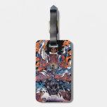 Arte legendario japonés oriental fresco del guerre etiquetas bolsa