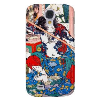 Arte legendario japonés oriental fresco del guerre funda para samsung galaxy s4