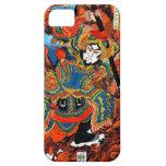 Arte legendario japonés oriental fresco del samura iPhone 5 coberturas