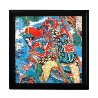 Arte legendario oriental fresco del guerrero del s cajas de joyas